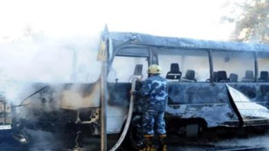 قتلى وجرحى جراء انفجار استهدف حافلة تابعة للجيش السوري في دمشق