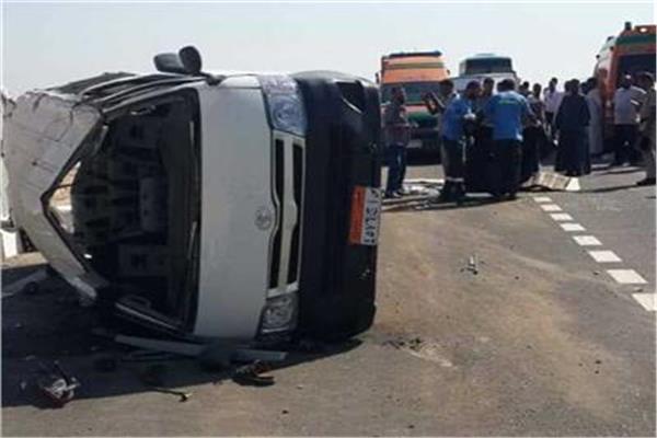 ننشر أسماء المصابين جراء حادث مروع بـ«صحراوي البحيرة»